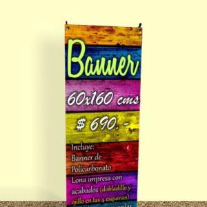 imagen banner policarbonato 60x160 publicidad cuernavaca morelos