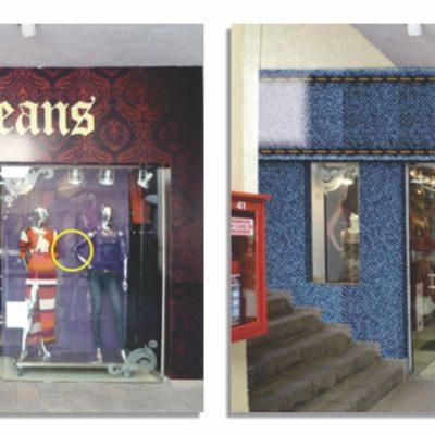 Propuesta fachada SAVI Jeans Cuernavaca